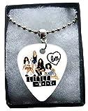 Little Mix Metal Guitar Plektron Necklace Ball Chain Kette