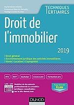 Droit de l'immobilier 2019 de Muriel Mestre Mahler