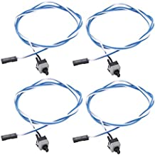 sourcing map 4 Pcs Cable Azul Blanco de Conector con Interruptor de Potencia Botón de Reposición para Computadora Portátil