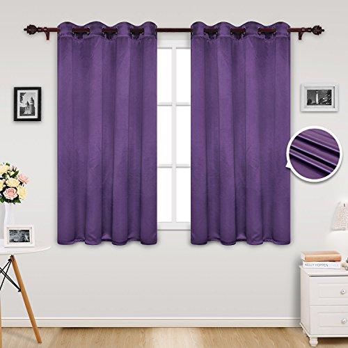Deconovo tende per casa moderne oscuranti con occhielli tende termiche isolanti per la cameretta dei bambini 135x180 cm viola 2 pannelli