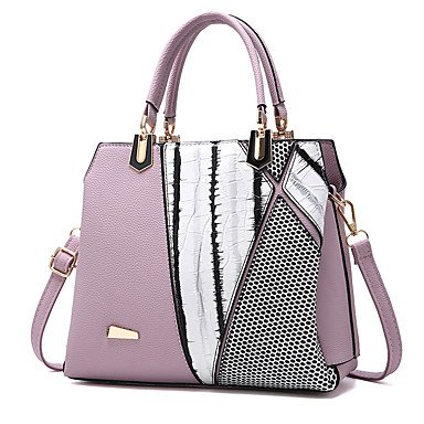 Damenmode Rüschen PU Leder Messenger Umhängetaschen Handtaschen/Klt Black