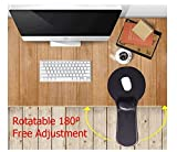 Xichen Premium regolabile computer da polso resto bracciolo – scrivania e sedia Dual Purpose Attachable Home & Office computer ARM Support – Design ergonomico mouse pad Black