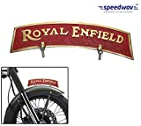 Speedwav Brass Front Fender Plate Royal Enfield-Golden & Red- For Royal Enfield Bikes
