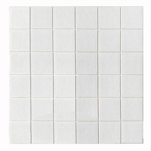 K&F-qianzhi 60 * 60 cm 3D Stereo Wand Panel Weiche Paket Abstellgleis Ziegel Peel Ziegel Panel Tapete Wohnzimmer Schlafzimmer Hintergrund Wanddekoration (Size : 15pcs)