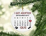 cwb2jcwb2jcwb2j Custom Dog Ornament, Dog Rescue Ornament, Pet Ornament, Dog Ornament, New Pet Ornament, New Dog Gift, Gift for Dog, Dog's First Christmas 3-inch(8 cm)