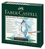 Faber-Castell 160310 Aquarellmarker Albrecht Dürer mit Doppelspitze für flächigen und präzisen Farbauftrag, 10er Etui, bunt