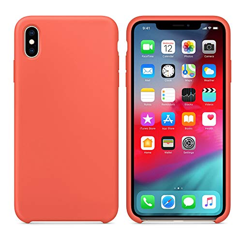 Costume iPhone XS Max Case, Ultra-dünne Silikon-Leder-weiche Fall-Abdeckung für iPhone XS Max 6.5inch (Orange) Orange Handy-fall
