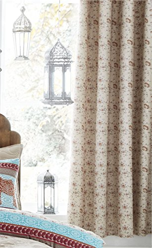 Catherine Lansfield Elephant Easy Care Eyelet Curtains Multi, 66×72 Inch