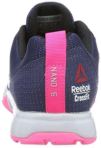 Reebok R Crossfit Nano 6.0, Chaussures de Sport Femme Bleu (Blue Ink/Lucid Lilac/Poison Pink/Black/Pewter)