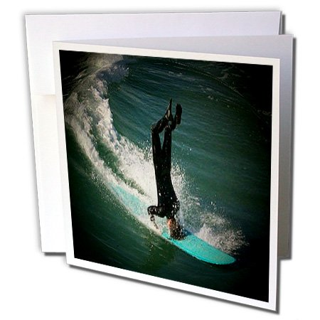 Huntington Beach Headstand Surfen - Grußkarte, 15,2 x 15,2 cm, Single (GC 26244 _ 5) - Huntington Rose