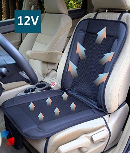 ObboMed SA-4280 12V 12W Cuscinetto rinfrescante ventilato e traspirante con circolazione d'aria e adatto in modo speciale e sicuro per macchina, automobile, veicolo, soluzioni per guida protratta