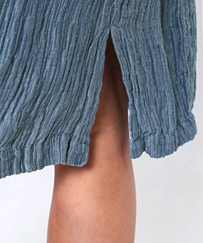 Grizas Femmes Robe effet soie gaufre Océan Océan