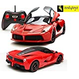 Zest 4 Toyz 1:16 Scale Remote Controlled Ferrari Like Model Sports Car With Openable Doors & Working LED Light (Red)