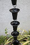 RegenKette zu cup Aluminium schwarz für Dachrinnen ForHome® - Fähigkeit Drain 3,5/5 - Kompletter Kettensatz