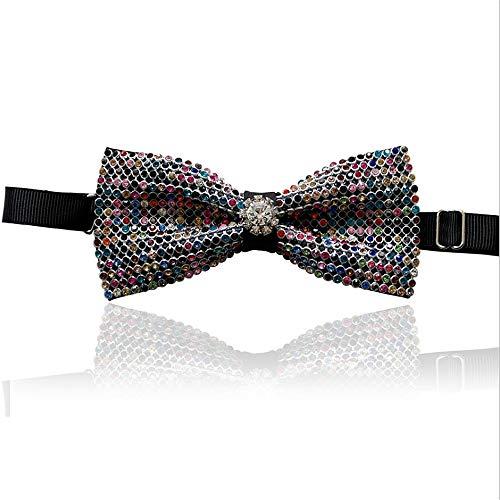 Krawatten und Fliegen für Herren Krawatte Stilvolle Kristall Fliege Glänzend Pre-Tied Formelle Casual Bowtie für Anzüge und Smoking Einstellbare Länge für Männer Krawatten und Fliegen für Pretied Bowties
