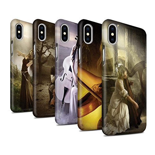 Offiziell Elena Dudina Hülle / Matte Snap-On Case für Apple iPhone X/10 / Schönheit/Violine Muster / Trost der Musik Kollektion Pack 6pcs