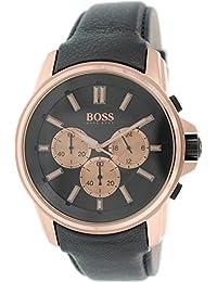 Hugo Boss Herren-Armbanduhr Chronograph Quarz Leder 1513032