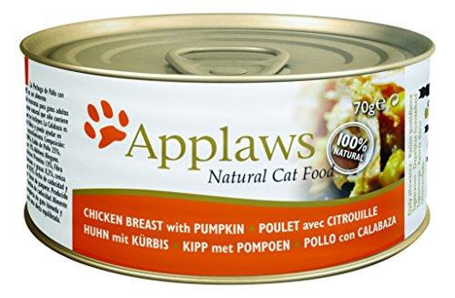 Applaws Katze Dose Thunfischfilet & Krabbenfleisch, 24er Pack (24 x 70 g)