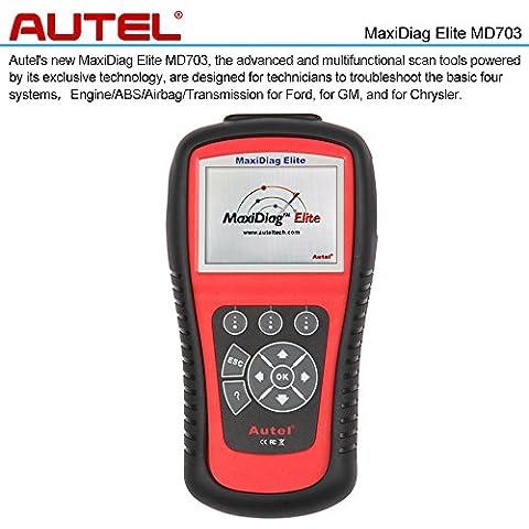 Autel Maxidiag Elite MD703 OBDII Auto Diagnostico Scanner Auto Scan Controllo di 4 Sistema Motore ABS Airbag e Trasmissione del Codice Diagnostico Strumento per Ford GM Chrysler
