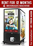 Cafe Desire Coffee Tea Vending Machine, 2 Lane with 1kg-Coffee and 1kg-Kadak Masala
