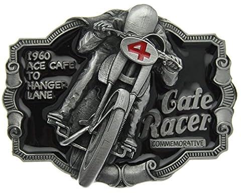 Boucle de ceinture Cafe Racer Commemorative en un de mes présentation en coffrets.
