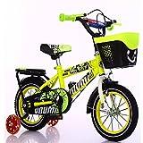 mädchen Jungen Kinderrad sichere Freizeit und Urlaub Kinderfahrräder 12 Zoll Gelb
