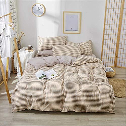 NQING Home Polyester Flache Blatt Duvet Abdeckung Bettlaken Kissen König Königin Volle Twin Größe B 220x240cm -