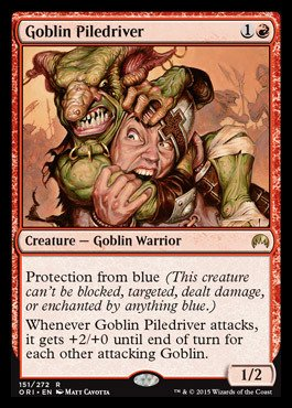 Magic: the Gathering - Goblin Piledriver - Scagliaorda Goblin - Magic Origins