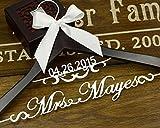 Michell63Bentham personalisierbar Kleiderbügel, Vintage Custom Datum Holz, Kleiderbügel für Braut, Mutter der Braut Geschenk, Geschenk für Bräutigam