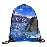 Unisex Rucksack mit Kordelzug, Landschaft, Meerwasser, Natur, Outdoor, Ozean, mit Kordelzug