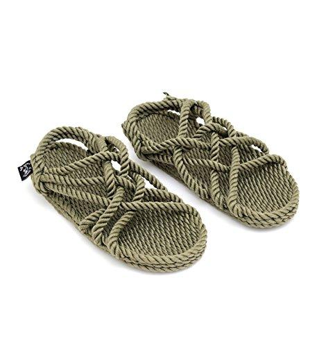 Nomadics JC Unisex-Erwachsene Sandale aus Seil Sage green, 41