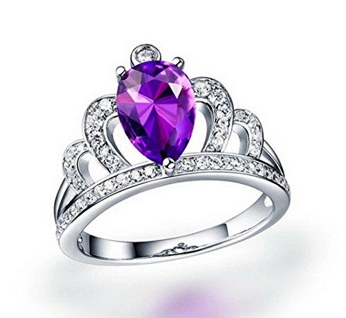 Vormor in argento Sterling 925anello pietra preziosa ametista naturale - Ametista Promise Ring
