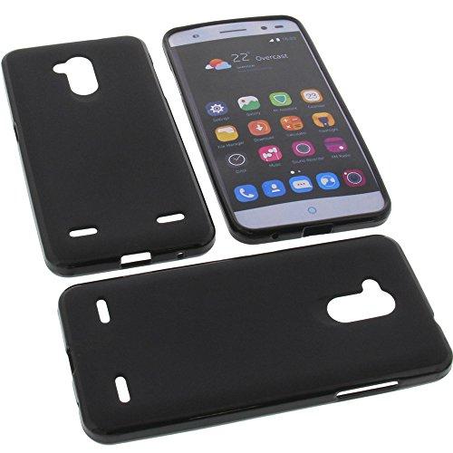 Tasche für ZTE Blade V7 Lite Gummi TPU Schutz Handytasche schwarz