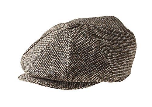 100% Wolle (Peaky Blinders Cap - 8 teilig - 100% Wolle - Jungen - Zeitungsverteiler, 1595 BK L-$P, Braun, 1595 BK L-$P 62)