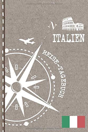 Italien Reisetagebuch: Reise Tagebuch zum Selberschreiben, ca. A5 - Journal Dotted Punkteraster, Bucket List für Urlaub, Ferien Trip, Auslandsjahr, Au Pair, Auswanderer - Notizbuch Dot Grid punktiert