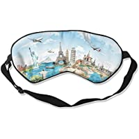 Comfortable Sleep Eyes Masks Travel Map Pattern Sleeping Mask For Travelling, Night Noon Nap, Mediation Or Yoga preisvergleich bei billige-tabletten.eu