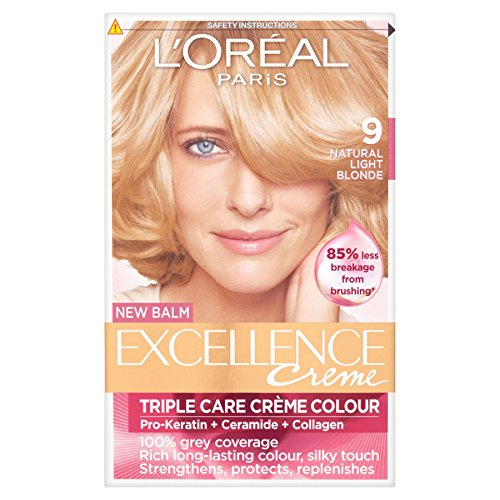 Triple Care Creme (3 x L'Oreal Paris Excellence Creme Triple Care Creme Colour 9 Natural Light Blonde)
