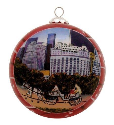 New York-Central Park, Weihnachtsdekoration, Pferde mit Kutsche Ride -