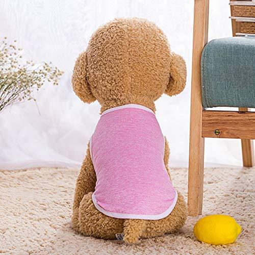 ZengBuks Sommer-Nette Hundeauto-T-Shirt Haustier-Kleidung Kleiderweste-Kostüm-Kleidungs-Kostüm-tägliche Nette ankleiden-Kleidung - Rosa XXL