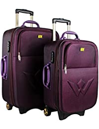 "UNITED Trolley Bags Polyester Matty Softsided Check In Bag & Cabin Bag Set Of 20"" And 24"""