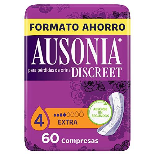 0acf739334d5a4 Ausonia Discreet Compresas Extra Para Pérdidas De Orina 60u