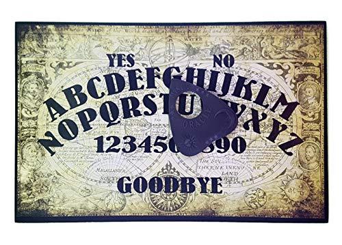 Handgefertigt aus Holz, A4 Talking Board, mit Weltkarte Motiv, Set mit Allsehendes Auge Planchette, Ouija Brett (Ouija-brett)