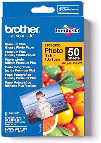 Brother BP71GP50 Fotopapier A6 50BL 260g/qm für MFC-6490CW DCP-375CW 6890CDW
