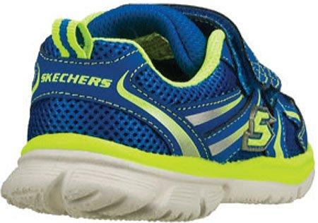 Skechers SpeedeesBurn Outs, Baskets mode garçon Blue/Green