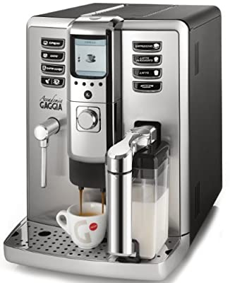 Gaggia Accademia RI9702/04 Bean to Cup Espresso and Cappuccino Coffee Machine - Silver