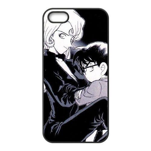 Detective Conan coque iPhone 4 4S Housse téléphone Noir de couverture de cas coque EBDXJKNBO10069