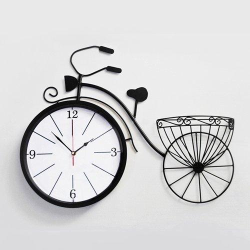 Vinteen Hierro forjado Reloj de pared de la bicicleta Sala de estar...