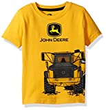 John Deere Toddler Boys' Graphic Tee, Construction Yellow, 3T