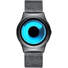 Uomo moda quarzo orologi–impermeabile lusso elegante orologio da polso con rete in acciaio INOX Band, semplice top marca Business casual orologi per uomo–blu oceano by Bhgwr