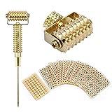 Multifunktionale Sonde Akupunktur Ohr Acupoints Frühling Nadel Massage Roller + 600Pcs Einweg Ohr Acupoints Perlen Massage Aufkleber(gokd)